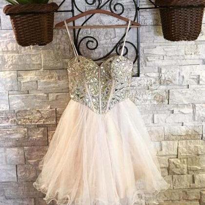 Cute Sweetheart Tulle Short Prom Dr..