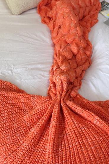 Mermaid Tail Blanket,Hand Knitted Mermaid Blanket,Women Blanket,Mermaid Blanket,Soft Blanket