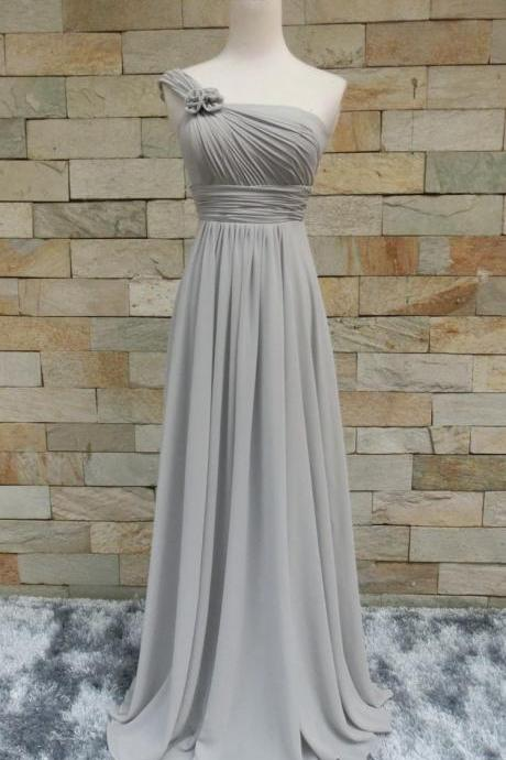 2016 Prom Dress,Custom Prom Dress,Chiffon Prom Dress,Handmade Bridesmaid Dress,Long Prom Dress,Handmade flower prom dress