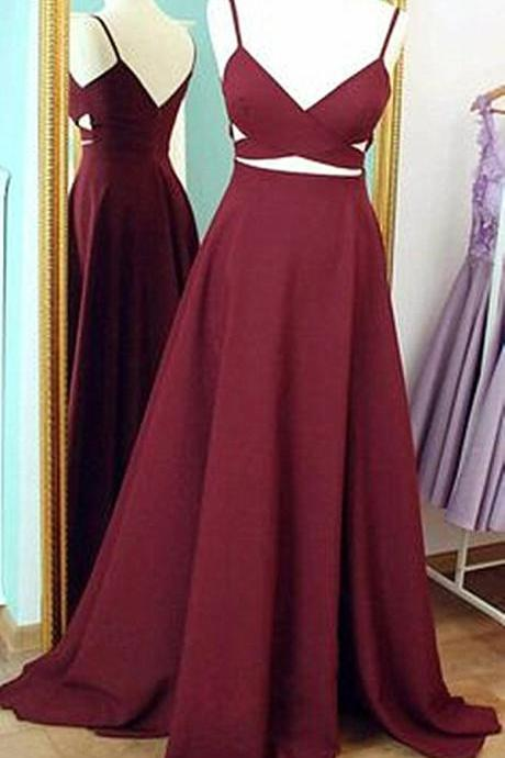 Spaghetti Straps Floor Length Prom Dresses,Red Sleeveless Party Dresses,Red Sexy Evening Dress Prom Gowns,Formal Women Dress